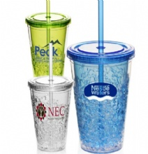 20oz plastic double wall freezer MUG