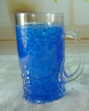 Double wall Crystal Freezer mug with Gel inside BPA free