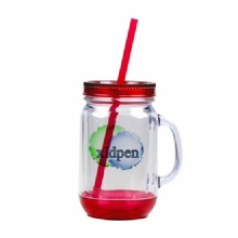16OZ DOUBLE WALL MASON JAR WITH HANDLE